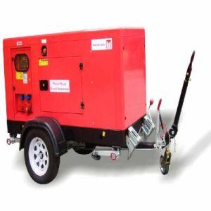36kw 45kVA Trailer Soundproof Mobile Diesel Generator mit Druckluftanlasser