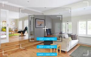 4CH het draadloze 720p Systeem van kabeltelevisie WiFi met IP van de Monitor 15inch 4PCS 720p Uitrusting van het Toezicht van de Veiligheid van het Huis van de Camera de Video
