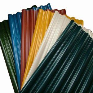 Feuille de métal ondulé galvanisé toit couleur