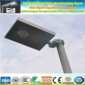 12W Luz solar calle LED Exterior Jardín Impermeable IP65 Sensor PIR integrado de alta potencia Post cálida iluminación blanca