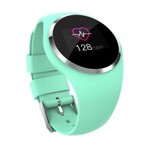 Man/Леди раунда экране Smart смотреть водонепроницаемые браслет артериального давления монитор частоты сердцебиений запястья посмотреть с помощью сенсорного экрана
