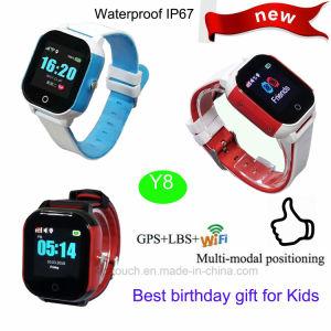 どこでもY8から追跡するクリスマスのギフトIP67waterproofの子供GPSの腕時計
