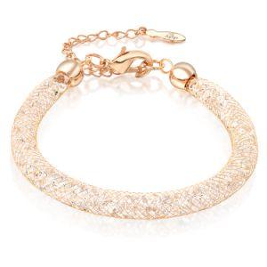 Мода ювелирные изделия из нержавеющей стали с золотым покрытием сетка Crystal браслет