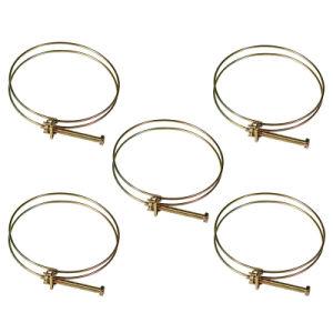 El doble cable ajustable Abrazaderas las abrazaderas de manguera aro sujetador de fontanería