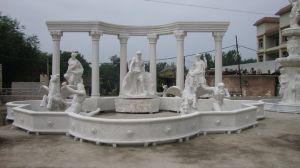 Banheira de venda da Pedra Bonita Escultura piscina ou jardim interior em mármore Trevi Chafarizes (SY-F055)
