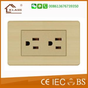 Factory Hot Sale 3pole Socket avec double prise USB 2.1A
