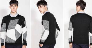 Professional Manufactory col rond pullover en tricot à motifs Hommes