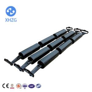 Transportador de correia de aço com o suporte do rolete da engrenagem intermediária