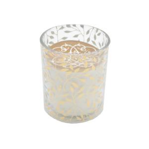 7*8cm Geruch-Glaskerze mit Goldabziehbild-Papier für Weihnachtsfestival