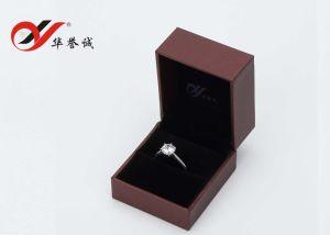 La surface du papier de couleur prune similicuir Ring Box/Bijoux emballage/boîte cadeau