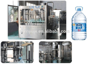 3L 5L 9L Botella de agua mineral pura llenado o envasado máquina