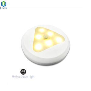 Mini LED Sensor de movimiento la luz con la batería para el aseo