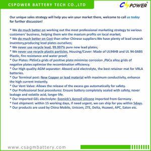 El ácido de plomo de 12 voltios de la batería AGM 180Ah para Sistema Solar