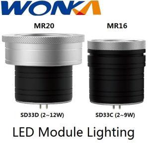 Módulo LED de potencia de iluminación ajustable reemplazable por el Ángulo de haz Spotlight