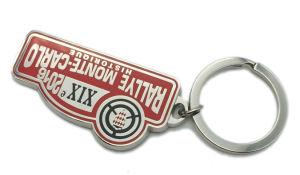 Kundenspezifisches Form-Zubehör-Metallaluminiumtelefon-Schlüsselring mit Epoxy-Kleber (038)
