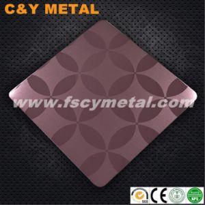 oro di 1.2mm Rosa che incide lo strato dell'acciaio inossidabile