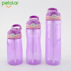 Qualität Tritan BPA geben Sport-Wasser-Flasche mit Stroh frei