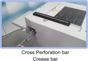 Plegado de papel automático digital y progresivo de la máquina perforadora Creaser YD-8335(BSC)