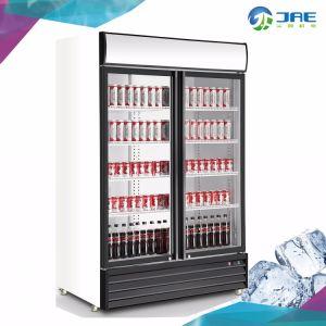 直立した2つのガラスのドアの清涼飲料の表示冷却装置