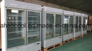 Ventilatore che raffredda il congelatore verticale della vetrina della visualizzazione con R404A