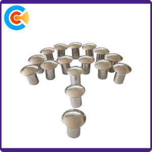 Tête ronde M6 de l'acier galvanisé Rivet Semi-Tubular