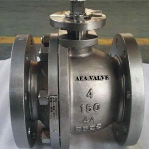 Caja de cambios operados fundición de acero de diámetro interior completo reducido diámetro montados en el muñón fabricante de la válvula de bola