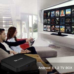 Spitzenkasten Tx3 PRO einstellen mit Amlogic S905X 1GB RAM/8GB ROM-intelligenter Fernsehapparat-Kasten Kodi vollem einprogrammiert Support 4K HD, 2.4GHz WiFi.