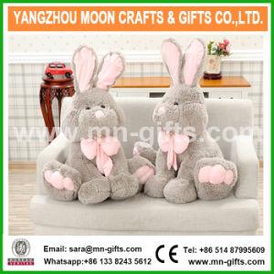 Pâques gris doux adorable lapin en peluche animal en peluche jouets