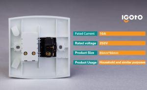 E116-1 Igoto British Standard 1 Piste 2 broches de prise de l'interrupteur