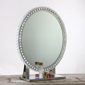 miroir de salle de bains lumineux par del avec les ampoules autour du bord miroir de salle de. Black Bedroom Furniture Sets. Home Design Ideas