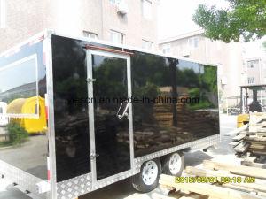 Plaque de diamant de remorque de camion alimentaire mobile