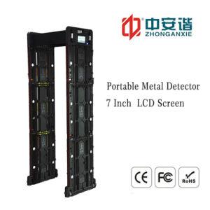 IP55 Interruptor de prueba de la lluvia dos barras de luz LED de potencia del detector de metales portátiles