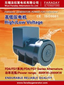 Faraday 2340kVA/1872kw Permanent Magnet Brushless Alternator Generator (2 anni di garanzia) Fd7g