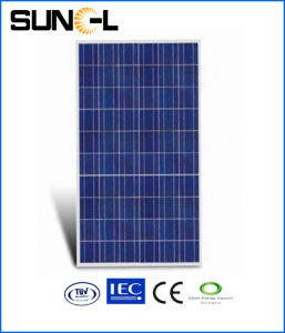 130 watt Policristalino Painel Solar com moldura preta (SMN-P130)