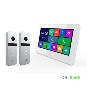 HDのメモリタッチ画面のホームセキュリティービデオドアの電話通話装置7インチの
