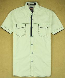 Il cotone di modo di polo degli uomini copre la camicia Pocket dell'indumento
