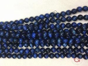 Filo 4mm della pietra preziosa rotonda 16 dei branelli dell'occhio blu della tigre  6mm 8mm 10mm 12mm