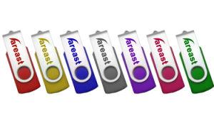 Giro Metal Plástico unidad Flash USB Pen Drive