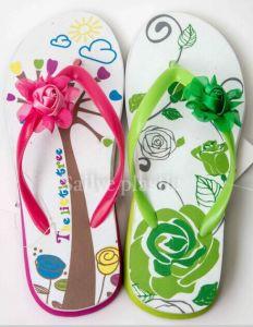 Fashion Design fleuri de l'été des femmes et Flip Flop Slipper