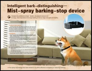 No pulverizar Perro Collar de la corteza de Entrenador de Perro automático