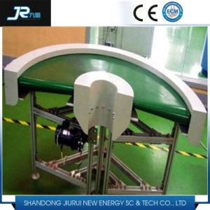 180 gradi che girano il trasportatore della cinghia in PVC Per alimento industriale