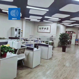 China suspendió el tejido de fibra de vidrio de insonorización acústica panel de techo