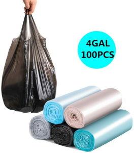 Plástico resistente de la comida basura basura biodegradable Shopping Camiseta portador de las camisas de los envases de almacenamiento