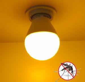 E27 9W Luz Amarela Repelente Lâmpada LED