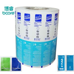 El alcohol las toallitas húmedas envases de papel de aluminio