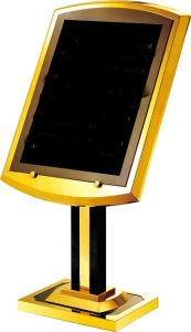 Hotel Derection (P-29)를 위한 황금 Color Metal Sign Stand