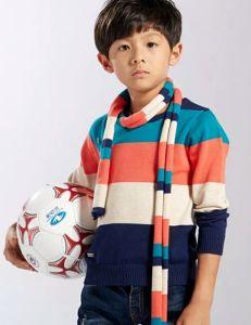Boy de algodón y de la moda suéter de manga larga