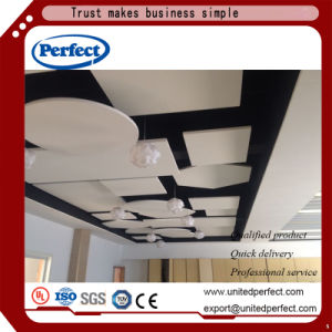 Fibre minérale acoustique panneau de plafond suspendu pour matériaux décoratifs