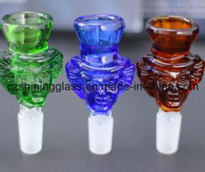Bonito diseño de tuberías de agua recipiente de vidrio hierba tazón de vidrio.