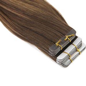 Uitbreiding van het Menselijke Haar van de Band van de Uitbreiding Pu van het Haar van de Band van het Haar van 100% de Maagdelijke Dubbele Zij (av-tp14-4/6/22)